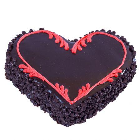 Choco Chip Heart Cake