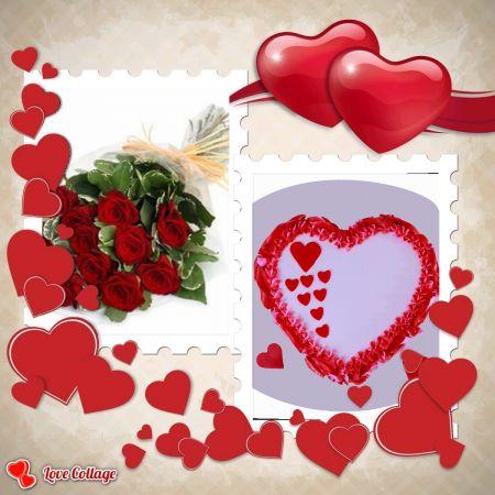 Rossette Heart Cake Combo