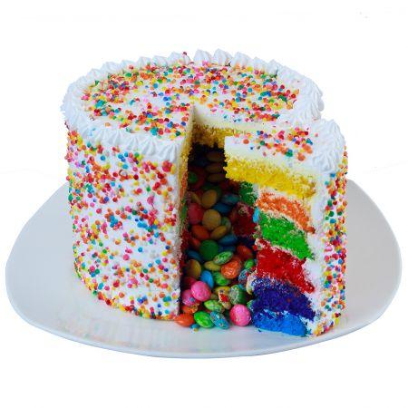 Funfetti Rainbow Pinata Gems Cake