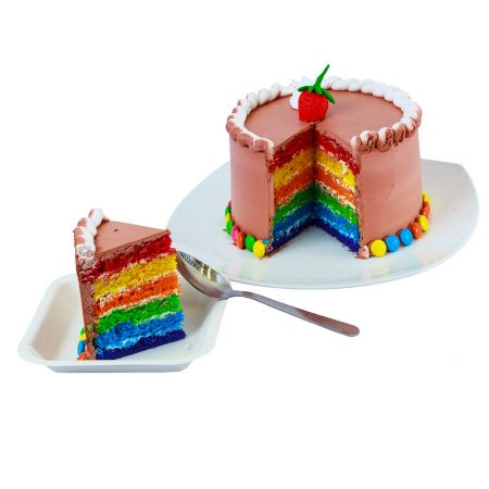 Chocolate Rainbow Cake