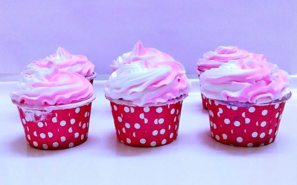 Women's Day Pink Cupcakes
