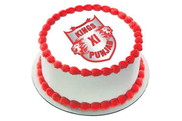 Kings XI Punjab Photo Cake