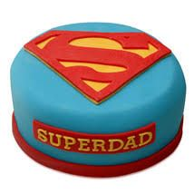 Super Dad Theme Cake