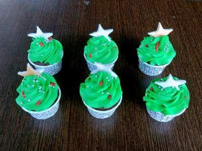Christmas Tree designer Cupcakes