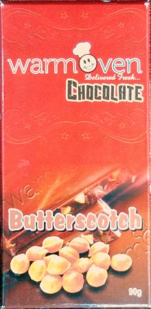 WarmOven Chocolate Butterscotch 90grms Bar