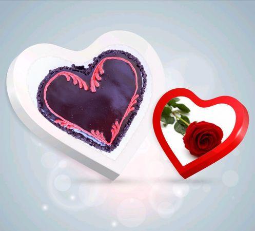 ChocoChip Heart  Cake Combo 2