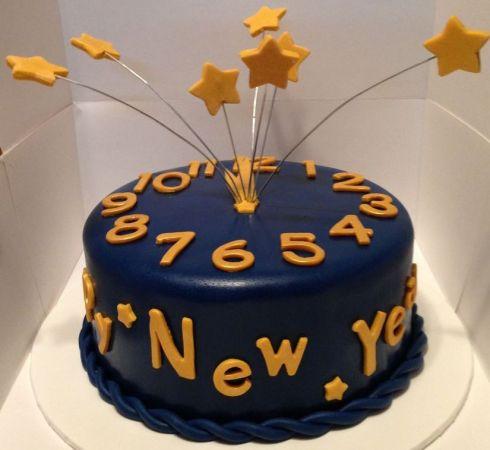 New Year Countdown Cake