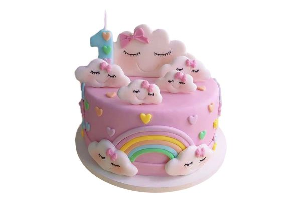 Happy Birthday Rainbow Cake - Customizable
