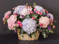 Basket Full Of Happiness Flowers