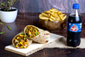 Mixed Veg Regular Roll | French Fries | Choco Lava | Coke Combo