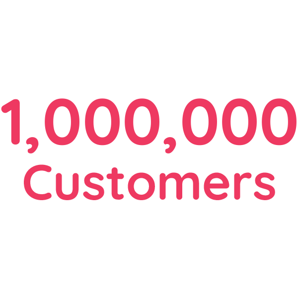 We have crossed 1M customers